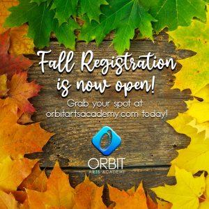 Fall Class Registration is OPEN!